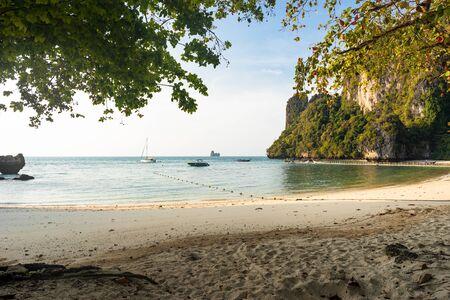 Sea and Pelay beach on Koh Hong Island in Thailand