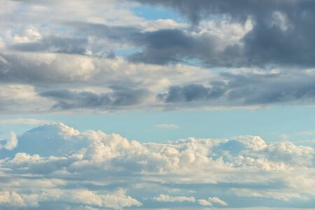 Cloudscape with clouds on blue sky