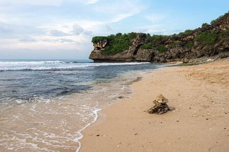 Balangan Beach on Bali island seascape