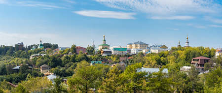 Panorama of Vladimir city in Russia - green historical city of