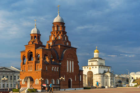Vladimir, Russia - August 18, 2021: Church of the Holy Trinity. Previously, the Old Believers church, built in the Neo-Russian style. An architectural monument of regional significance. Now the exhibition hall of the Vladimir-Suzdal Museum-Reserve