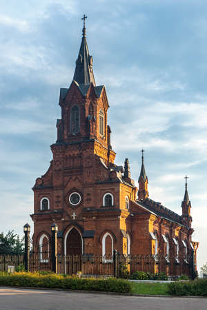 Catholic church of the Holy Rosary of the Blessed Virgin Mary is Gothic style building in Vladimir City In Russia 版權商用圖片