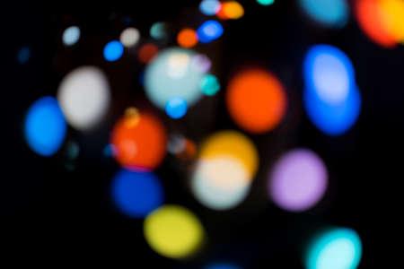 Blur color defocused bokeh light of garland background 版權商用圖片