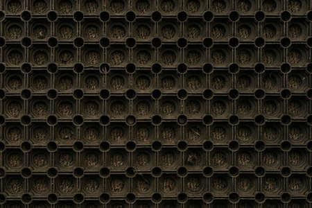 Black-brown dark background circles are the same. honeycomb