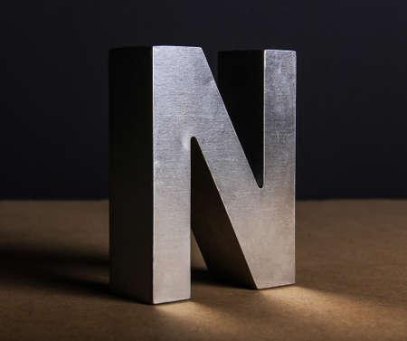 Volumetric letter N