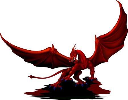 red dragon wings revealed Vector