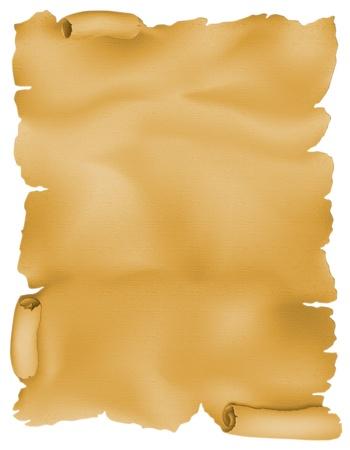 pergamino: Desplazamiento del viejo pergamino. Objeto aislado en blanco