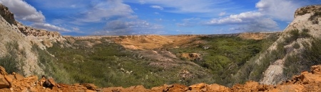 tethys: Landscape of the canyon on the slopes of Ustyurt. The north part of the plateau in Kazakhstan