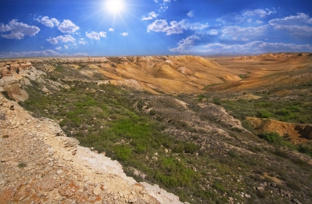 tethys: Canyon on the slopes of Ustyurt. The north part of the plateau in Kazakhstan