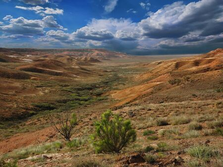 tethys: Beautiful mountains landscape of the slopes canyon in Ustyurt. North eastern part of the plateau in Kazakhstan