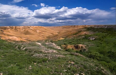 tethys: Canyon on the mountains of Ustyurt  The north part of the plateau in Kazakhstan Stock Photo