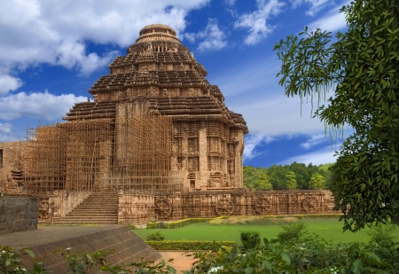 Sun Temple. General view for the temple of the Surya. Konark, Orissa, India photo