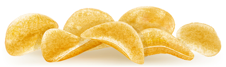 prepared potato: heap of potato chips  vector illustration Illustration