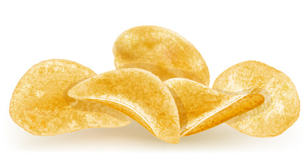heap of potato chips  vector illustration Illustration