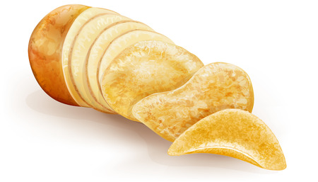 cut potato tubers converted into fries chips
