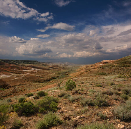 tethys: Mountains landscape of the slopes canyon in Ustyurt  North eastern part of the plateau in Kazakhstan