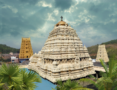 andhra: Hindu Narasimha temple located in the Visakhapatnam City suburb of Simhachalam in Andhra Pradesh, South India