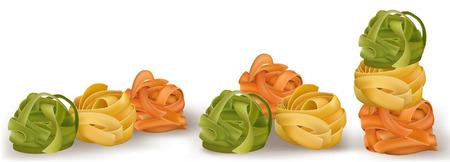 färgrik pasta pasta. vektor illustration