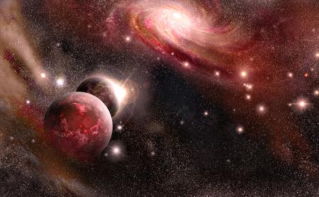 惑星、星雲、銀河、星の背景宇宙空間の 写真素材