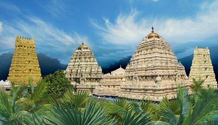 Hindu Narasimha temple located in the Visakhapatnam City suburb of Simhachalam in Andhra Pradesh, South India