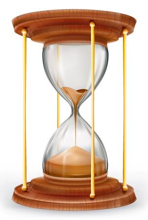 白い背景の透過ベクター砂時計