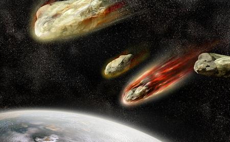 meteorites: meteorites burn in the atmosphere of the planet