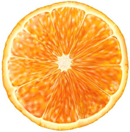 オレンジ色の果物のスライス