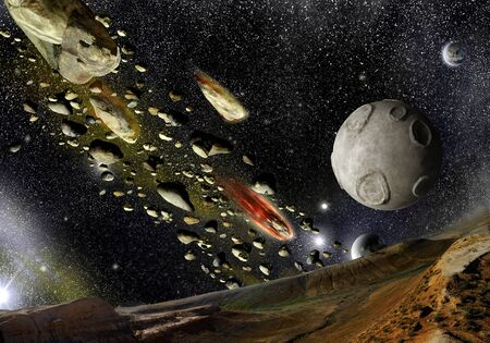 meteorites: A view from of the planet surface on falling meteorites and planets