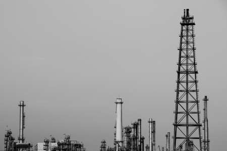 Oil and Gas pipe at industrial in monochrome tone