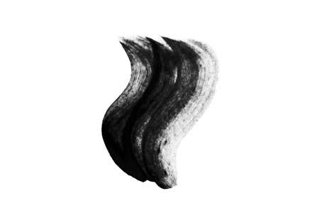 Abstract Ink curve draw isolate on white background