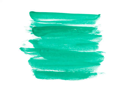 Green Water Color splash isolate on white background