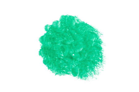 Green Water Color abstract splash isolate on white background