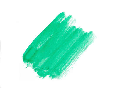 Green Water Color paint isolate on white background