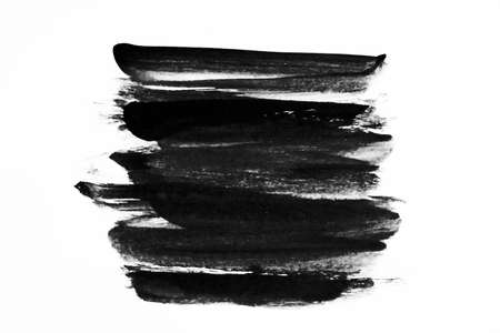 Abstract Ink paint isolate on white background
