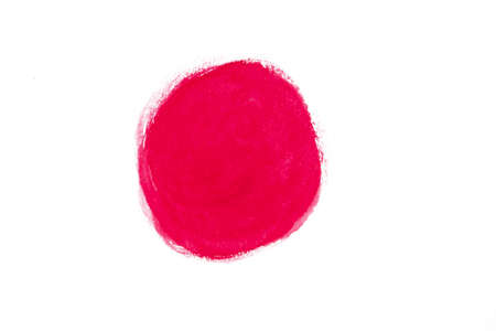 Circle Red Water Color isolate on white background Stock fotó - 131720726