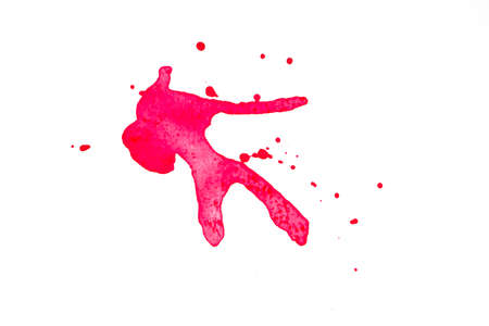 Red Water Color splash isolate on white background Stok Fotoğraf