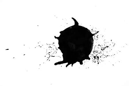 Abstract Ink splash isolate on white background