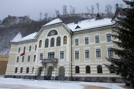 Vaduz - the capital city of Liechtenstein  Main square with gavernment building Stock Photo - 13191554