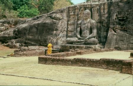 an obeisance: Buddha Statue in Gal Pota Temple, Polonnaruwa