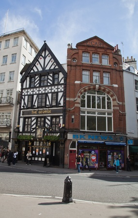 Typical buildings in London, UK