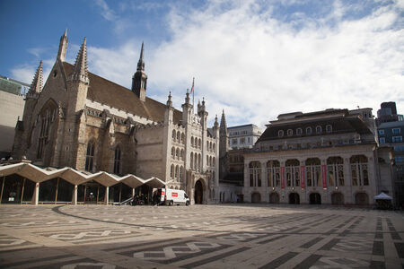 listed buildings: Guildhall, City of London, UK