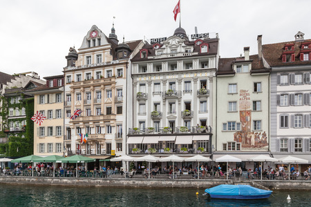 City of Luzern, Switzerland. Swiss, medieval.