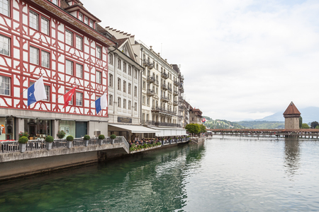 City of Luzern, Switzerland. Facade, baroque.