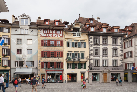 Image with Luzern, main touristic city in Switzerland, known for baroque architecture. Redakční