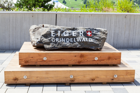 Stone with inscription,Eiger,Grindelwald
