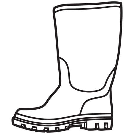 welly: Rubber boots vector
