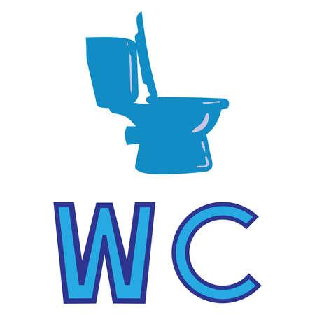 Toilet symbol,WC bathroom toilet ,vector
