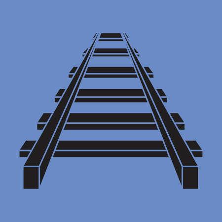 Railroad vector icon , railway icon 向量圖像