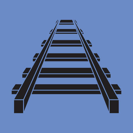 Railroad vector icon , railway icon Stock Illustratie