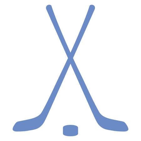 puck: hockey sticks and puck vector